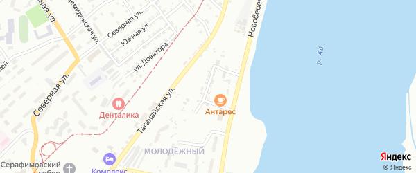 Новобереговая улица на карте Златоуста с номерами домов