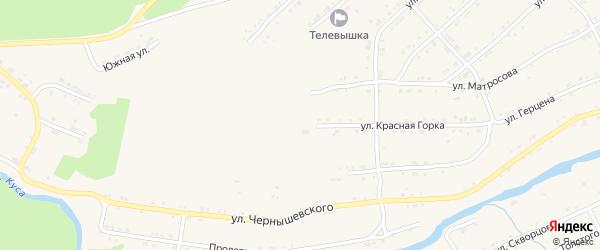 Улица Красная Горка на карте поселка Магнитки с номерами домов