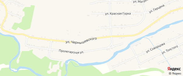 Улица Чернышевского на карте поселка Магнитки с номерами домов