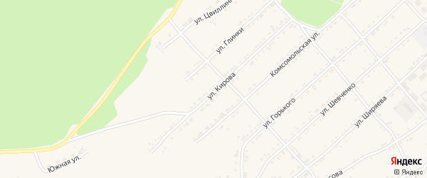Улица Кирова на карте поселка Магнитки с номерами домов