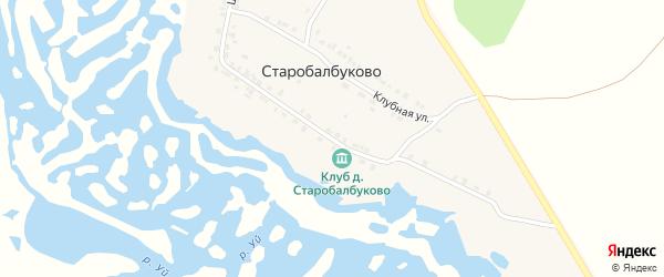 Школьная улица на карте деревни Старобалбуково с номерами домов