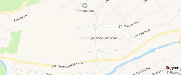 Улица Герцена на карте поселка Магнитки с номерами домов