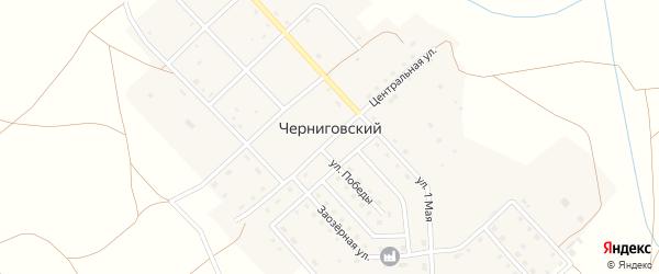 Улица Победы на карте Черниговского поселка с номерами домов