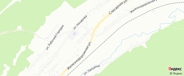 Железнодорожная улица на карте поселка Салгана с номерами домов