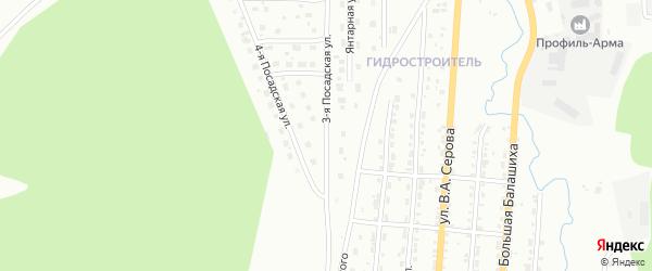 Посадская 3-я улица на карте Златоуста с номерами домов