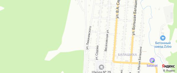 Улица им С.А.Леваневского на карте Златоуста с номерами домов