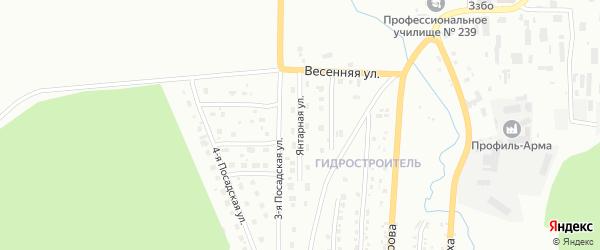 Янтарная улица на карте Златоуста с номерами домов