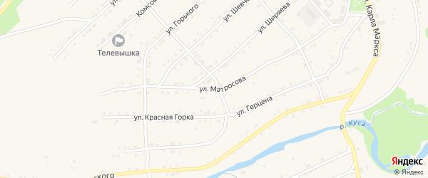 Улица Матросова на карте поселка Магнитки с номерами домов
