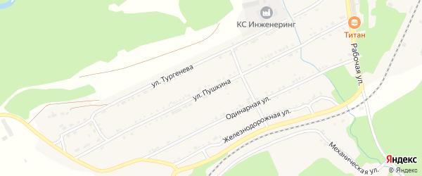 Улица Пушкина на карте поселка Магнитки с номерами домов