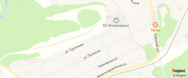 Улица Тургенева на карте поселка Магнитки с номерами домов