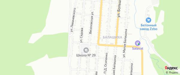 Веселовская улица на карте Златоуста с номерами домов