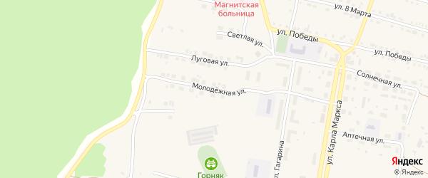 Молодежная улица на карте поселка Магнитки с номерами домов