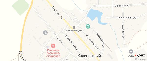 Амурская улица на карте Калининского поселка с номерами домов