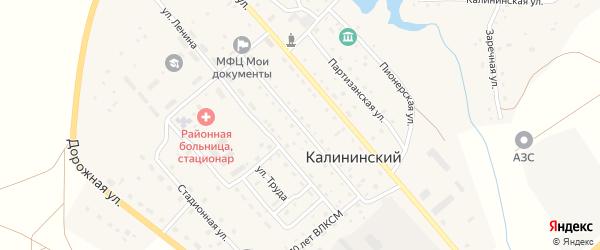 Строительная улица на карте Калининского поселка с номерами домов