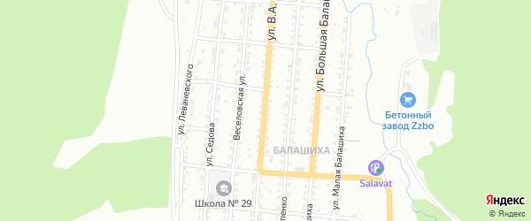 Улица им А.В.Луначарского на карте Златоуста с номерами домов