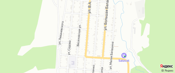 Улица им В.А.Серова на карте Златоуста с номерами домов
