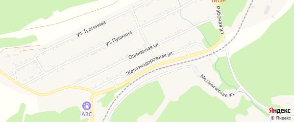 Железнодорожная улица на карте поселка Магнитки с номерами домов