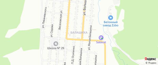 Поселок Балашиха на карте Златоуста с номерами домов