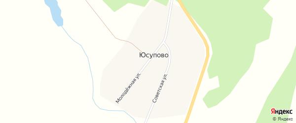 Молодежная улица на карте деревни Юсупово с номерами домов