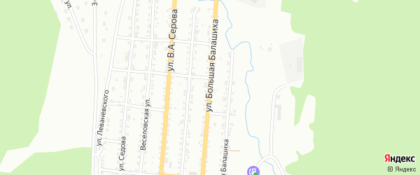 Улица Большая Балашиха на карте Златоуста с номерами домов