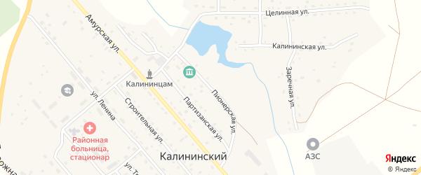 Пионерская улица на карте Калининского поселка с номерами домов