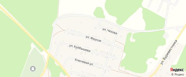 Улица Фрунзе на карте поселка Магнитки с номерами домов