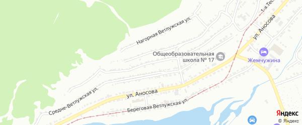 Нагорная Ветлужская улица на карте Златоуста с номерами домов