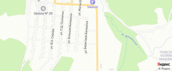 Улица Береговая Балашиха на карте Златоуста с номерами домов