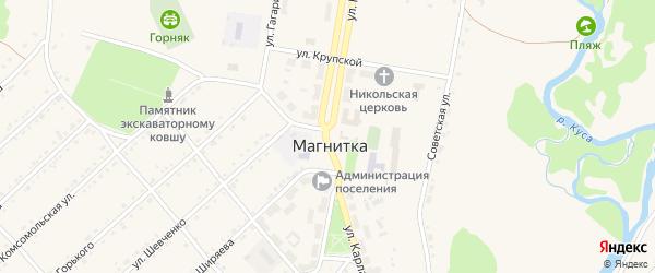 Улица Карла Маркса на карте поселка Магнитки с номерами домов
