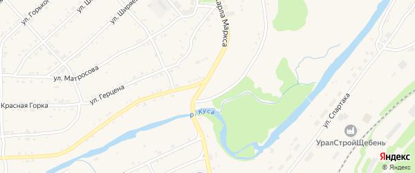 Октябрьская улица на карте поселка Магнитки с номерами домов