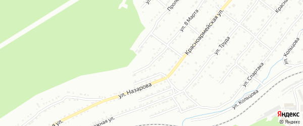 Токарная улица на карте Златоуста с номерами домов