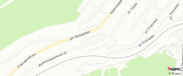 Локомотивная улица на карте Златоуста с номерами домов