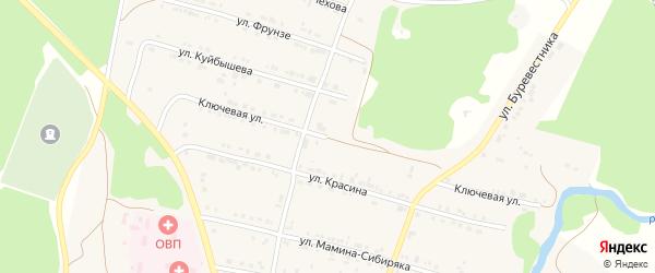 Ключевая улица на карте поселка Магнитки с номерами домов