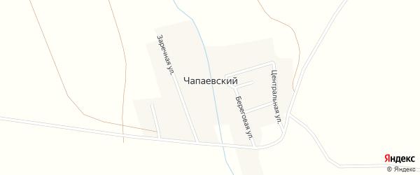 Береговая улица на карте Чапаевского поселка с номерами домов