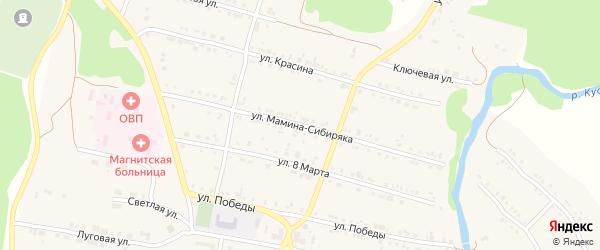 Улица Мамина-Сибиряка на карте поселка Магнитки с номерами домов
