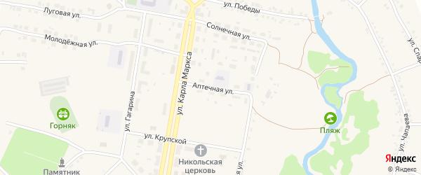 Аптечная улица на карте поселка Магнитки с номерами домов
