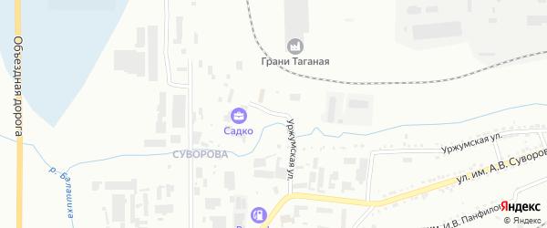 Уржумская улица на карте Златоуста с номерами домов