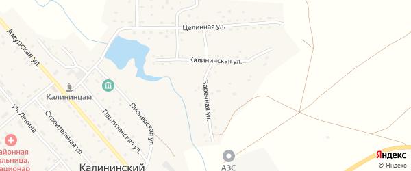 Заречная улица на карте Калининского поселка с номерами домов