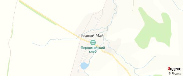 Карта деревни Первого Мая в Башкортостане с улицами и номерами домов