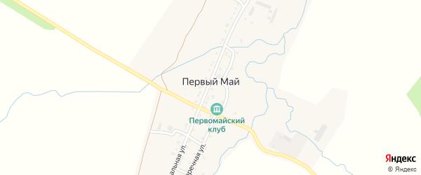 Центральная улица на карте деревни Первого Мая с номерами домов