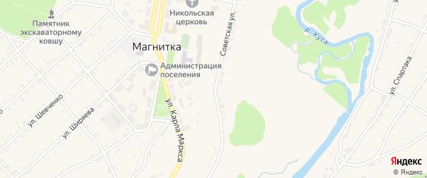 Советская улица на карте поселка Магнитки с номерами домов