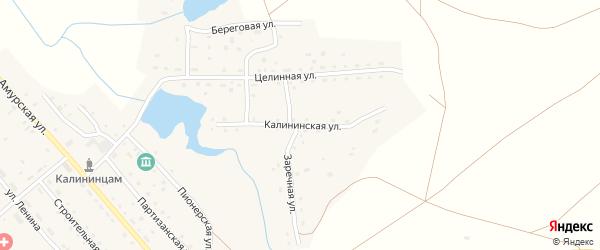 Калининская улица на карте Калининского поселка с номерами домов