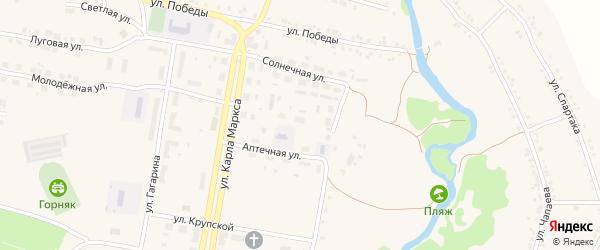 Улица Строителей на карте поселка Магнитки с номерами домов