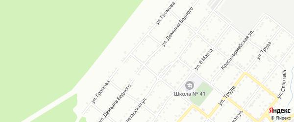 Улица им Демьяна Бедного на карте Златоуста с номерами домов
