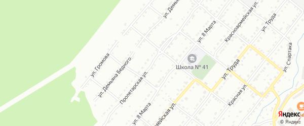 Пролетарская улица на карте Златоуста с номерами домов