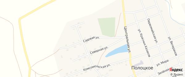 Садовая улица на карте Полоцкого села с номерами домов