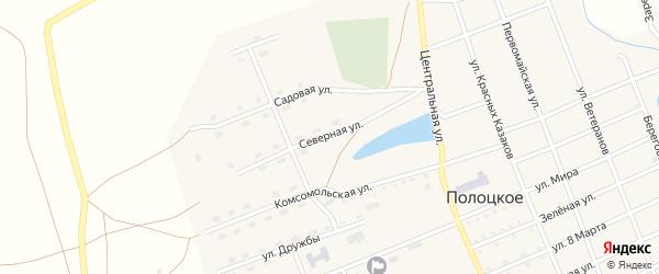 Северная улица на карте Полоцкого села с номерами домов