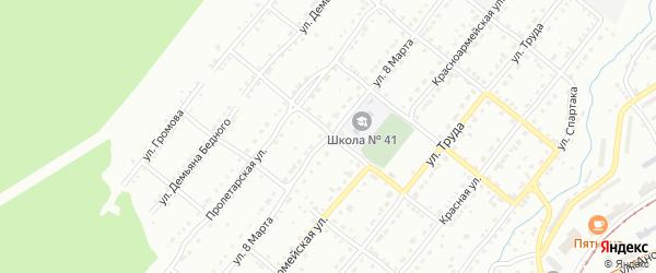 Улица 8 Марта на карте села Веселовки с номерами домов