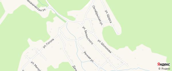 Улица Белинского на карте поселка Магнитки с номерами домов