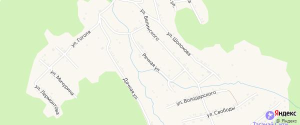 Речная улица на карте поселка Магнитки с номерами домов